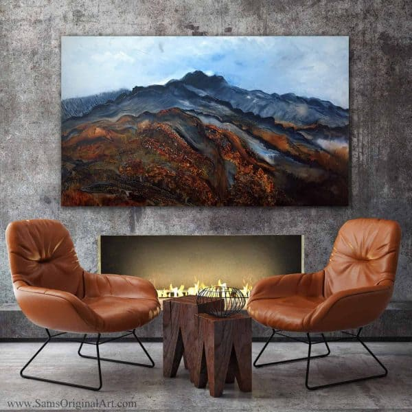 Large Original Giclee Wall Canvas Print Title: Sierra
