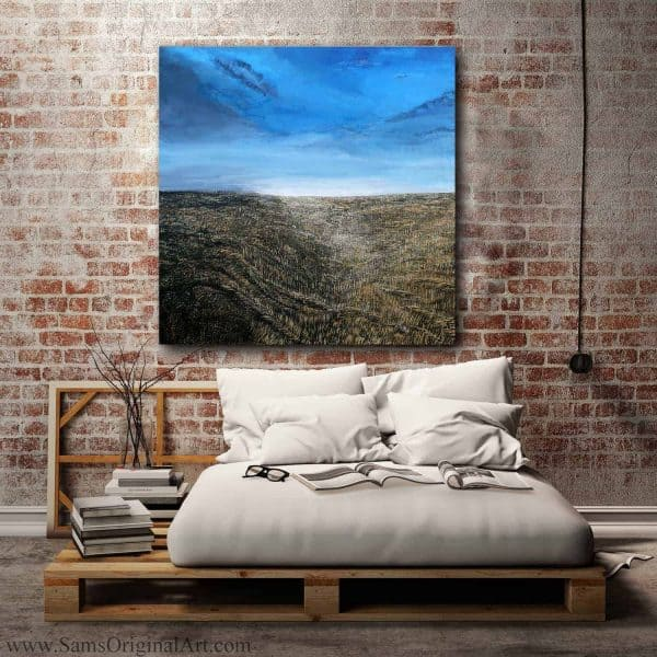 modern blue sky wall art