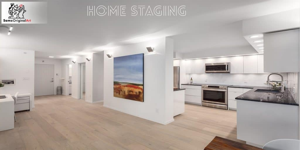 Home staging art for real estate agents