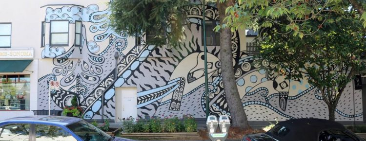 South Granville mural by Ola Volo