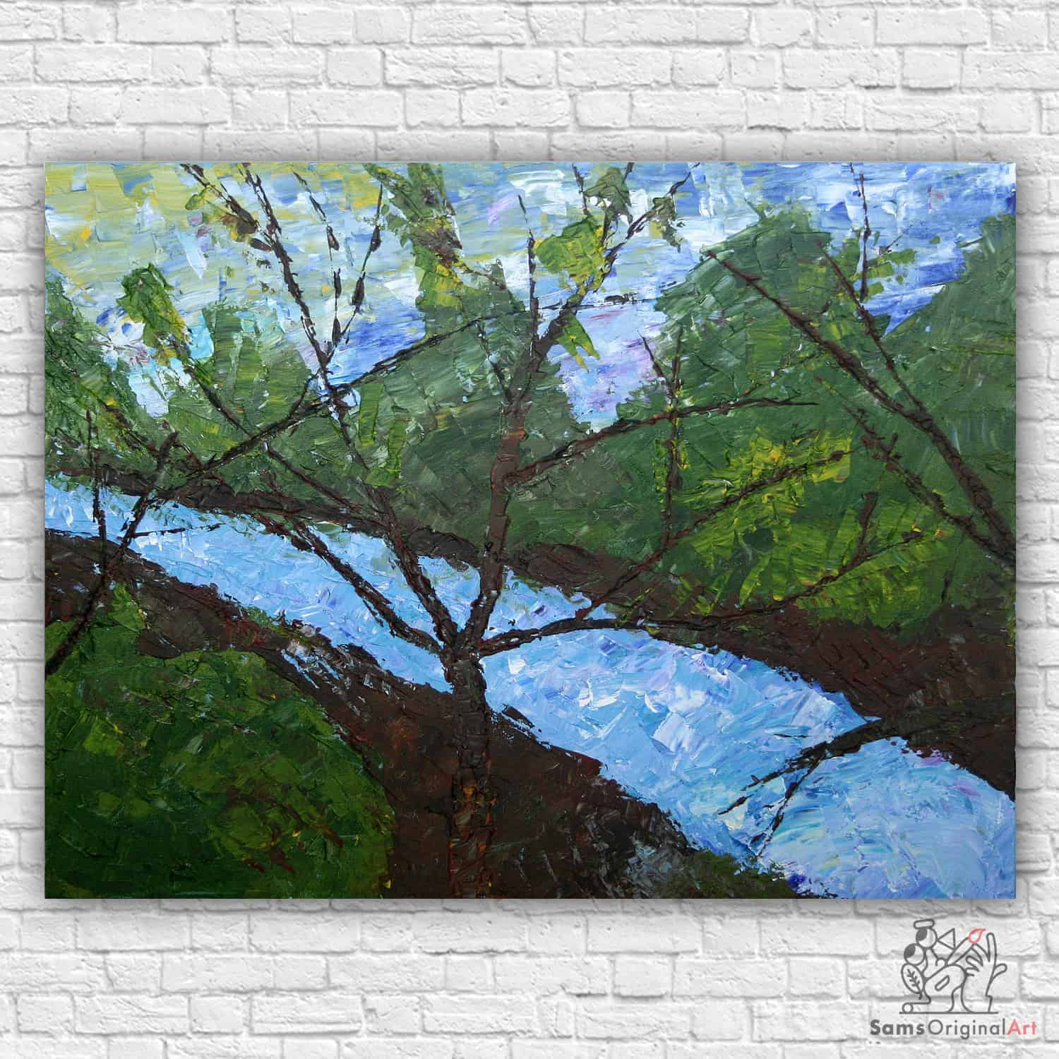 abstract river painting vancouver