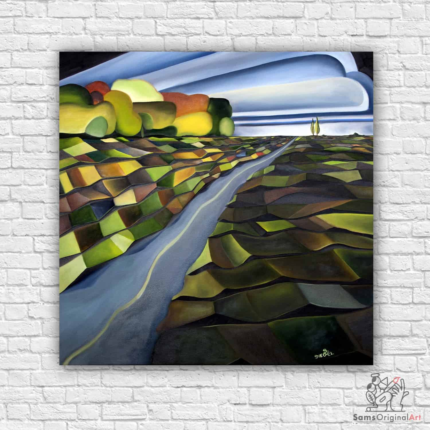 geometric landscape paintings vancouver