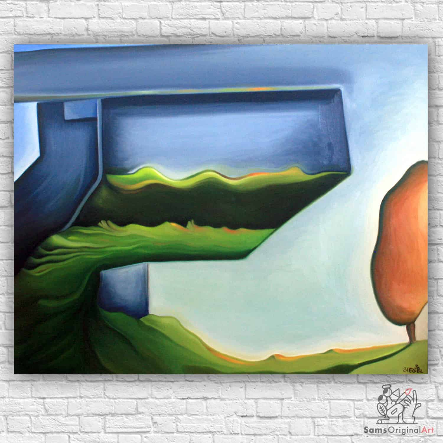 modern architecture painting
