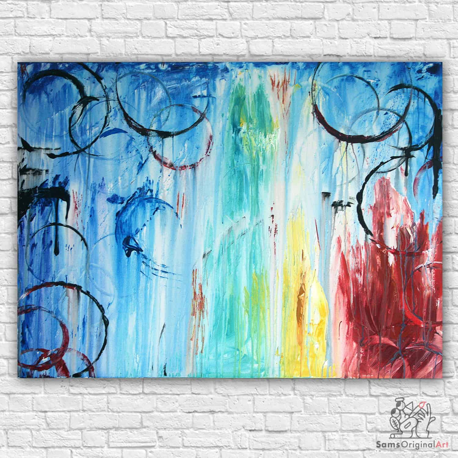 vibrant abstract painting vancouver