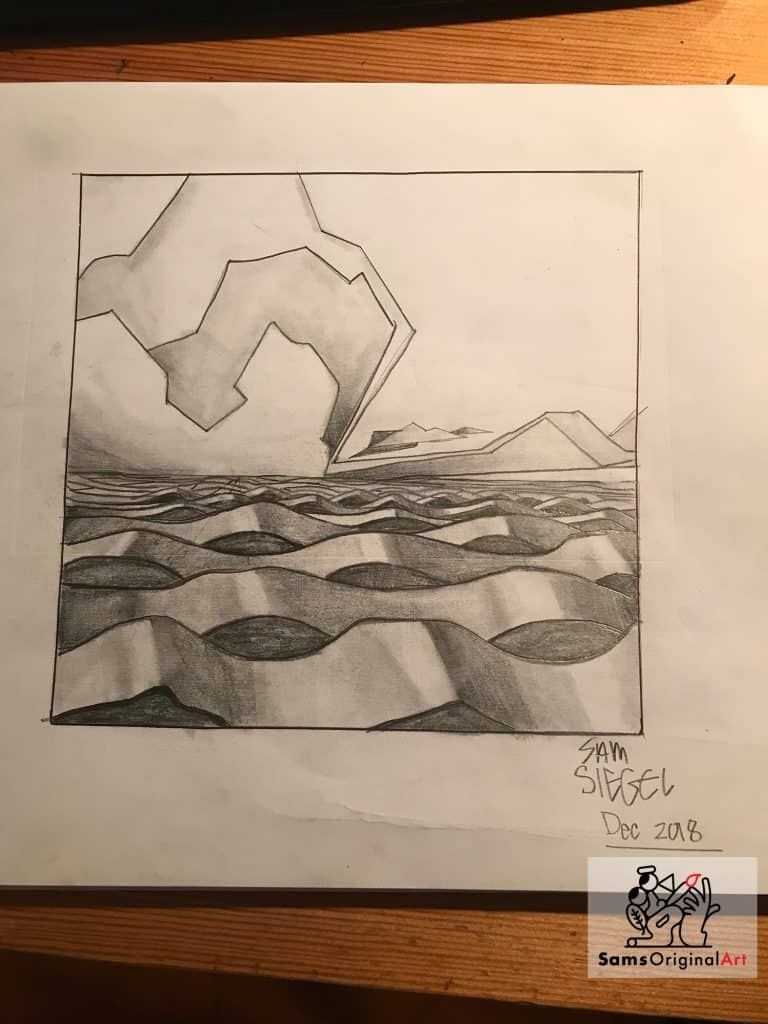 abstract water sketch by Sam Siegel