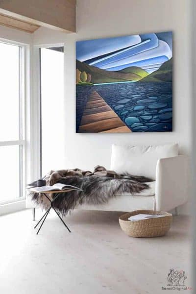 Cultus Lake Painting for home