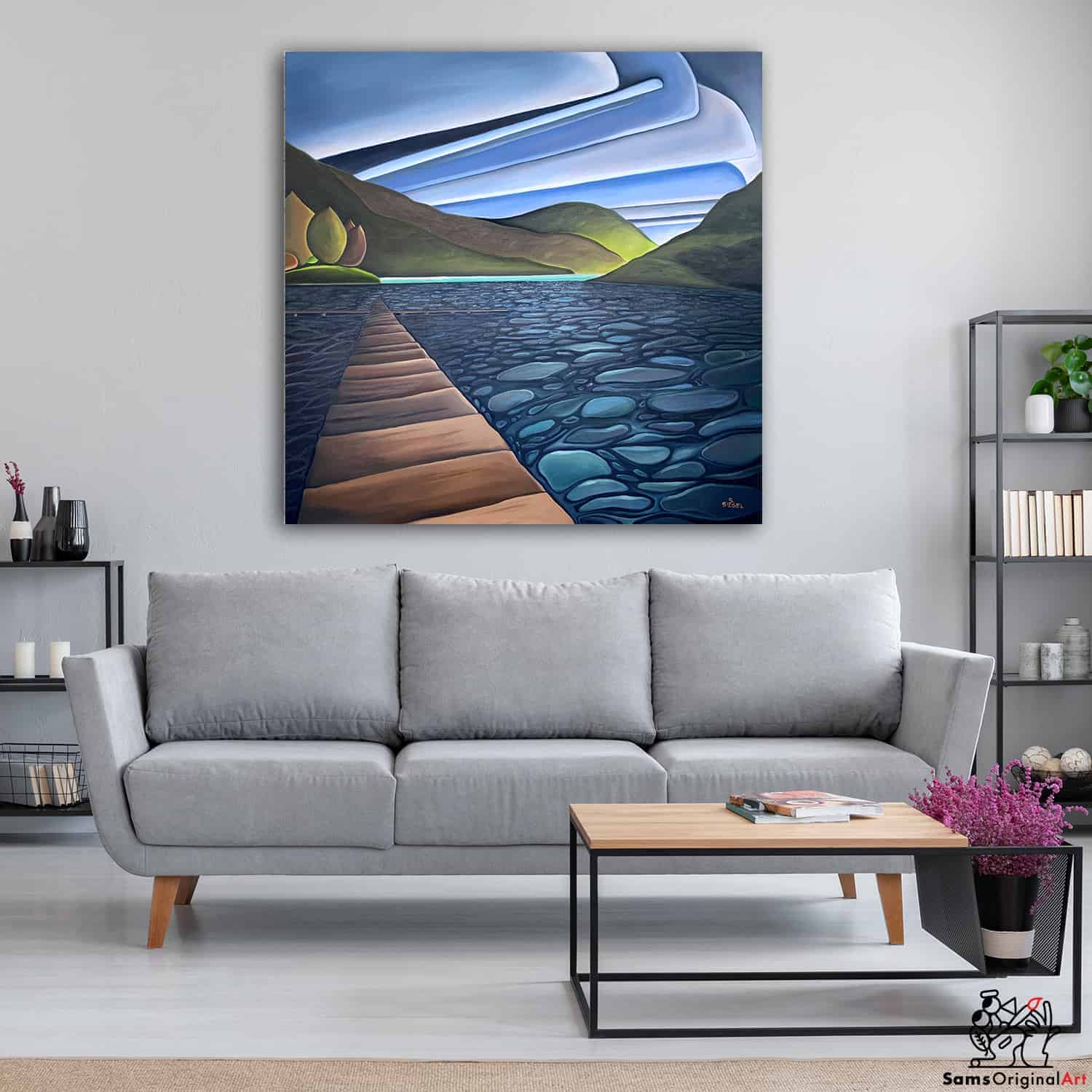 Painting of Cultus Lake