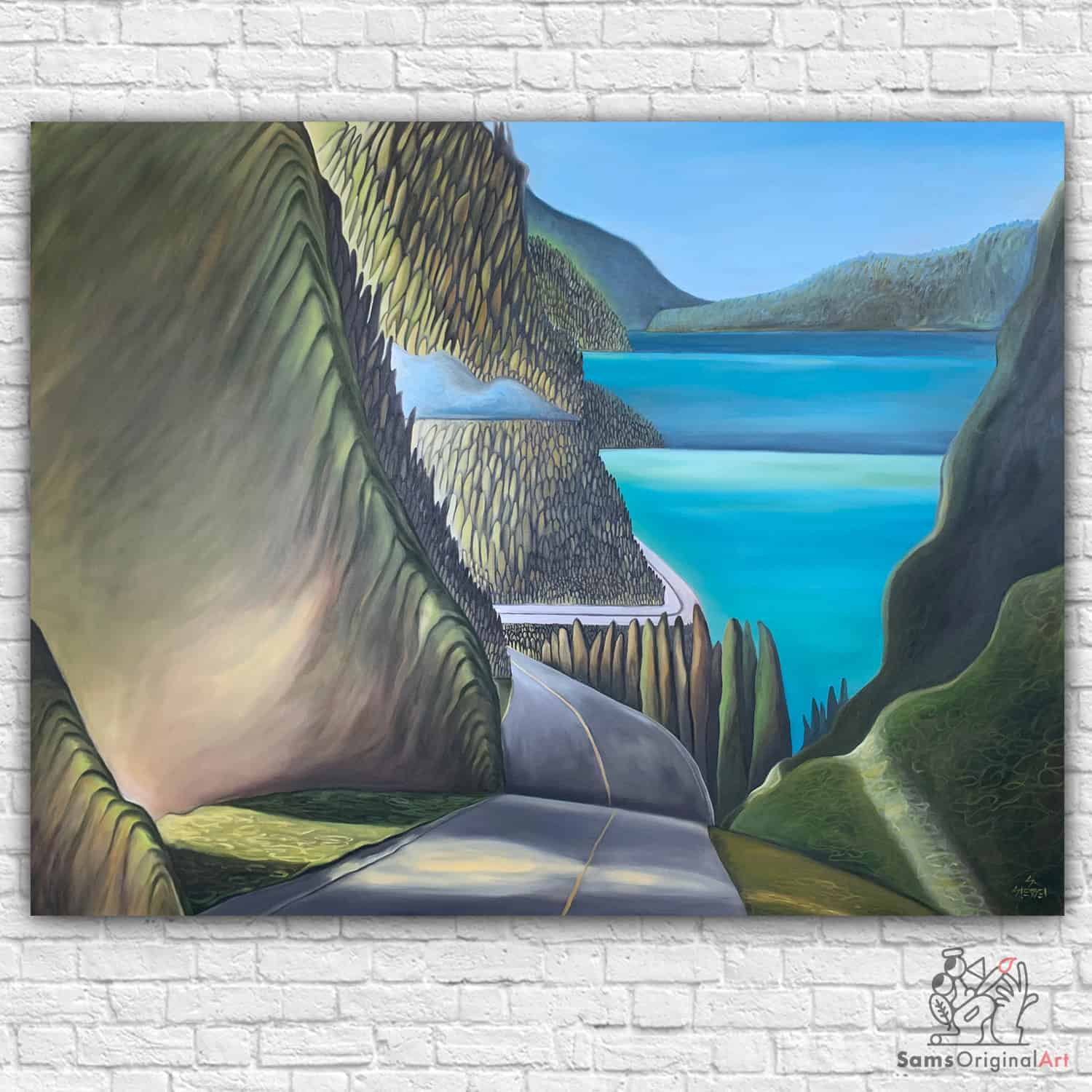 sea to sky highway painting