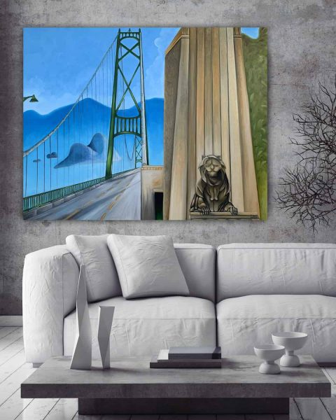 Painting of Lions Gate Bridge