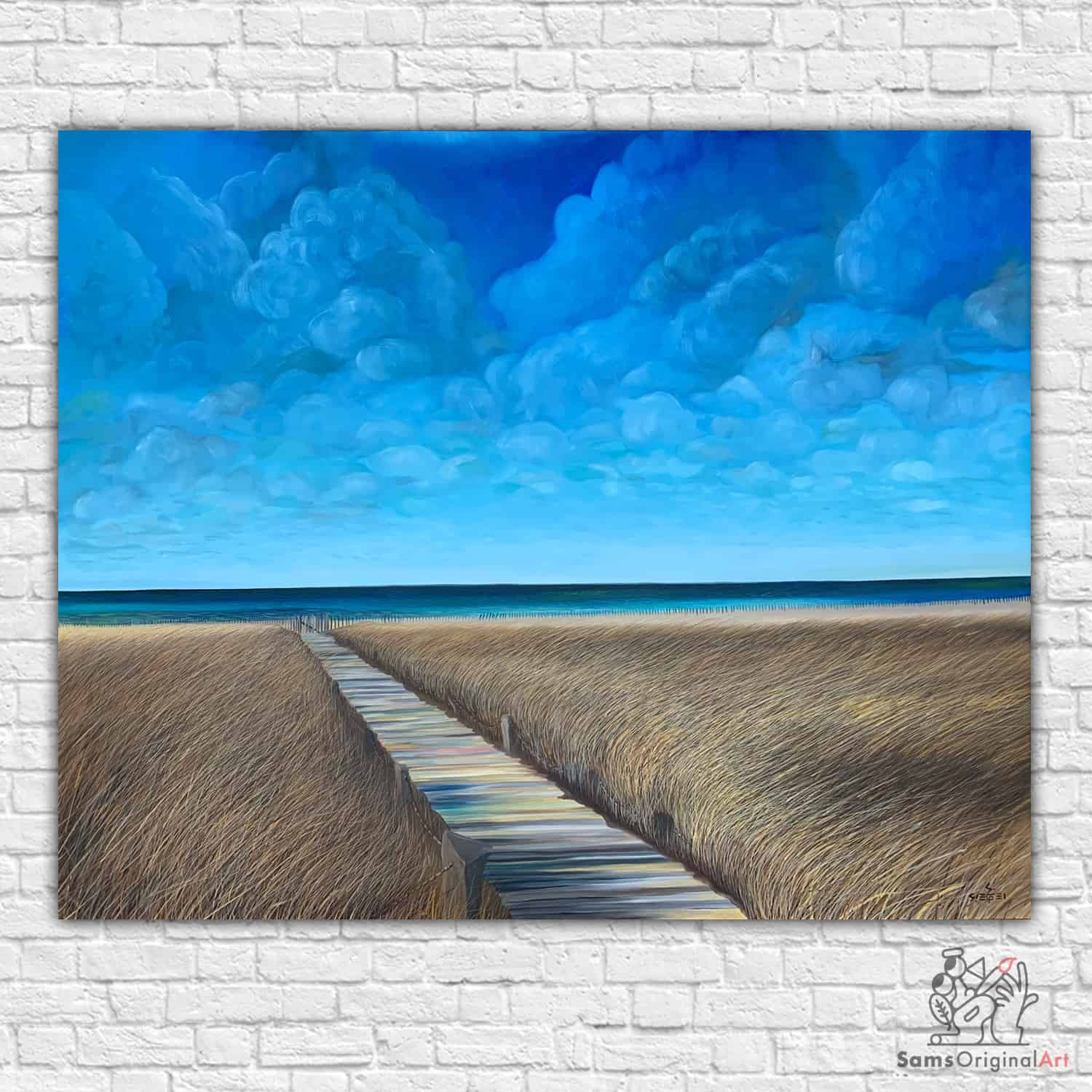 Southhampton Beach Boardwalk painting