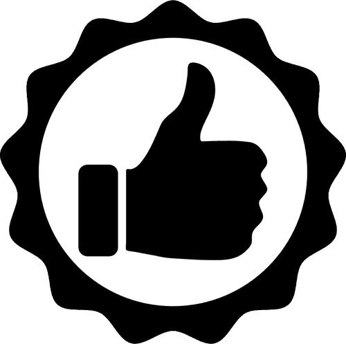 satisfaction guaranteed thumbs up icon