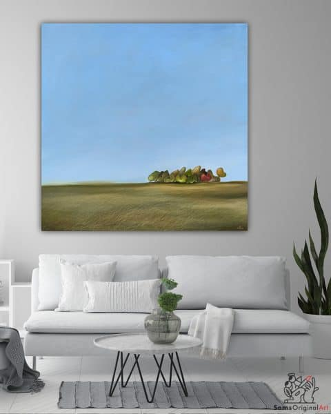 contemporary meadow paintings
