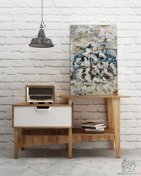 buy blue and white abstract paintings