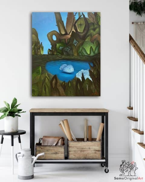 pond paintings