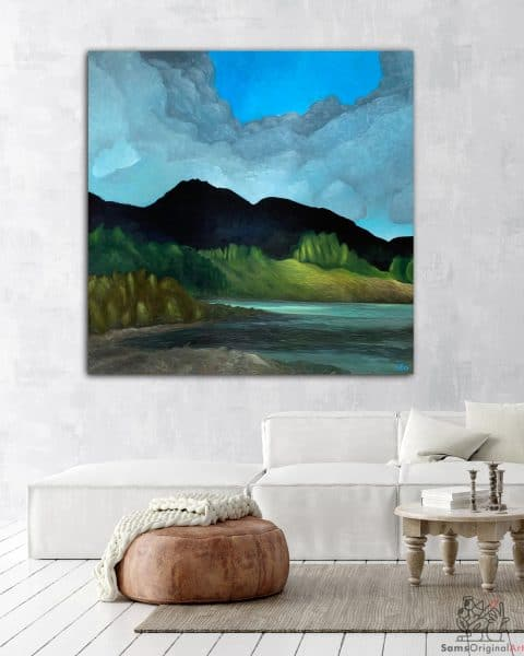 Capilano Lake painting