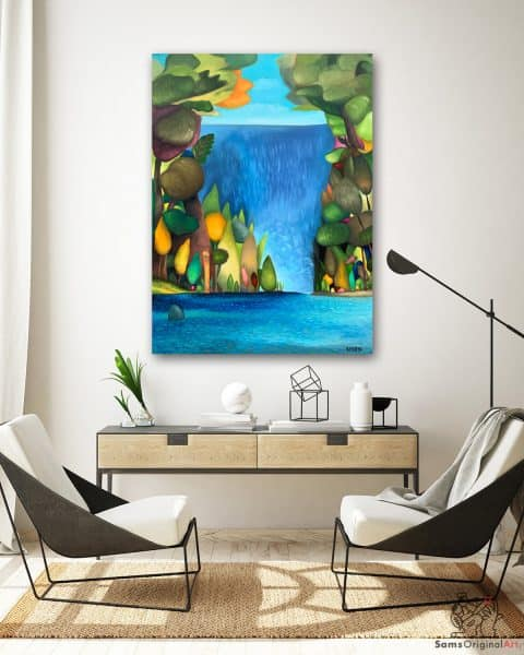 Waterfall paintings Vancouver