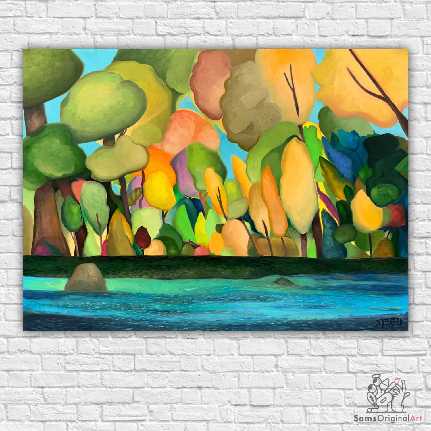 Colourful Tree paintings