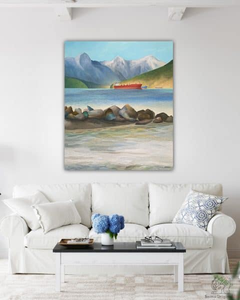 Vancouver Freighter painting